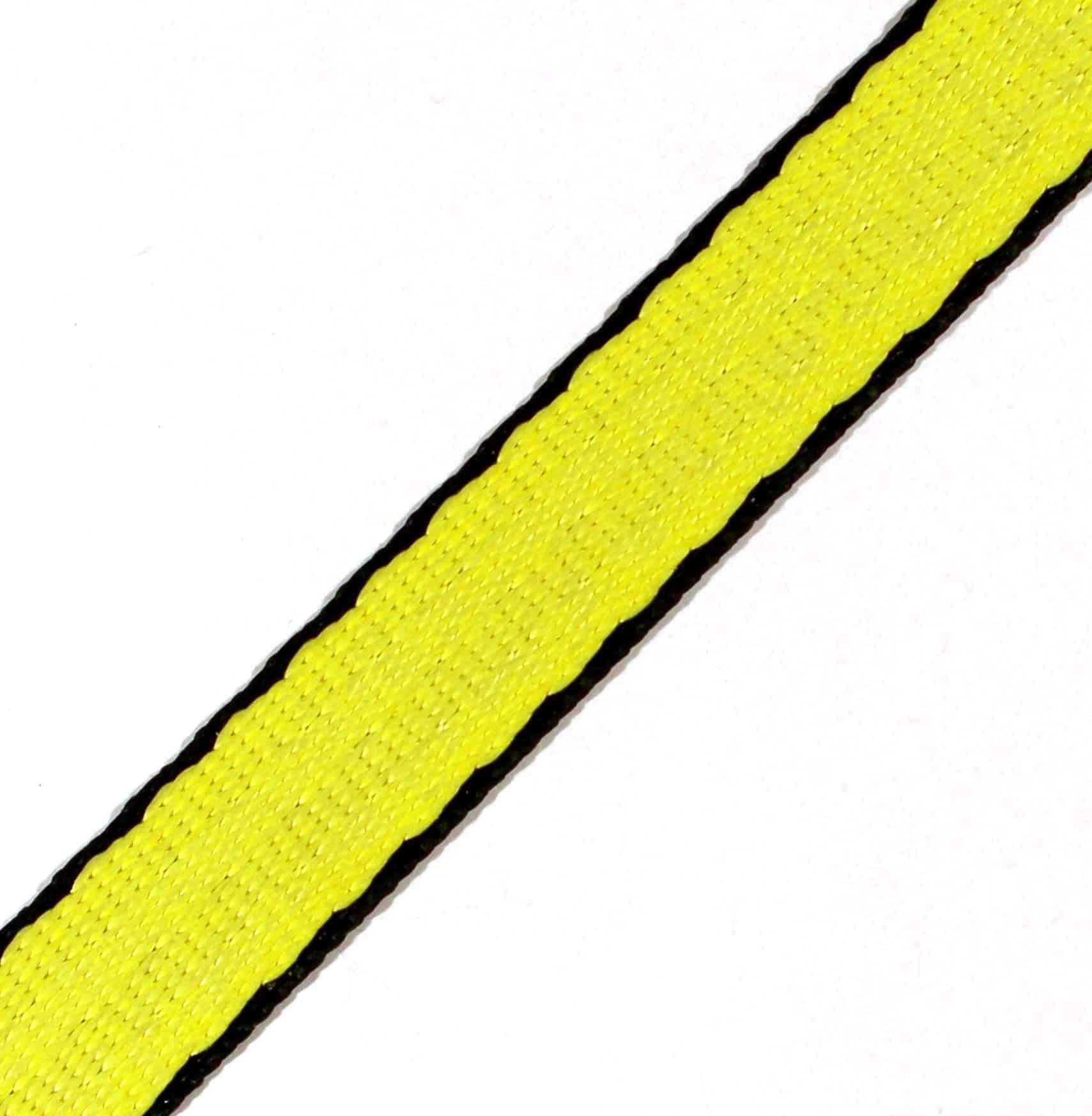 3/4″ Black & Natural UHMWPE / Polyester webbing