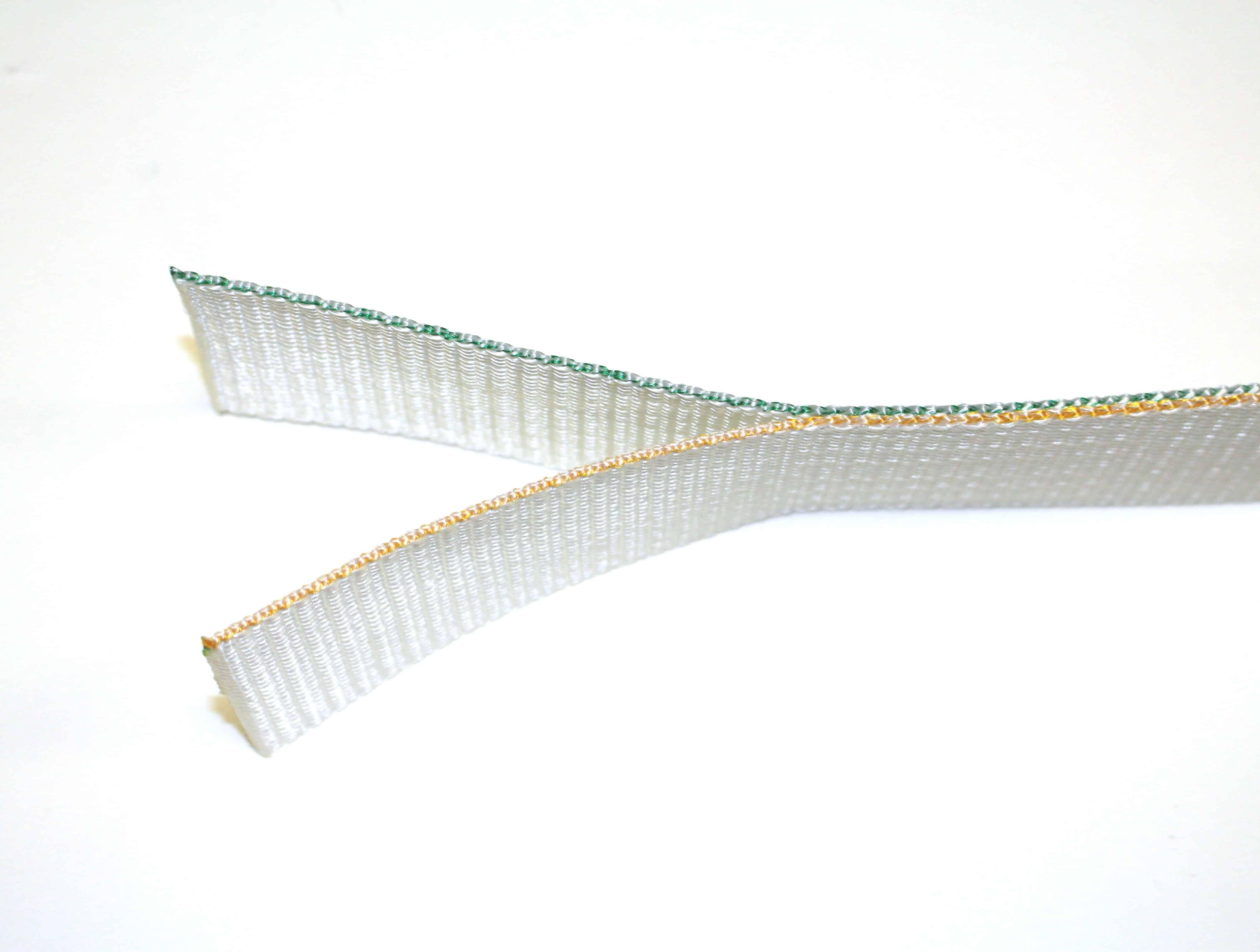 CSA Z259.11 Class E4 & E6; 1.95″ Single Wing Natural Polyester Tear Webbing w/ Cut Bar