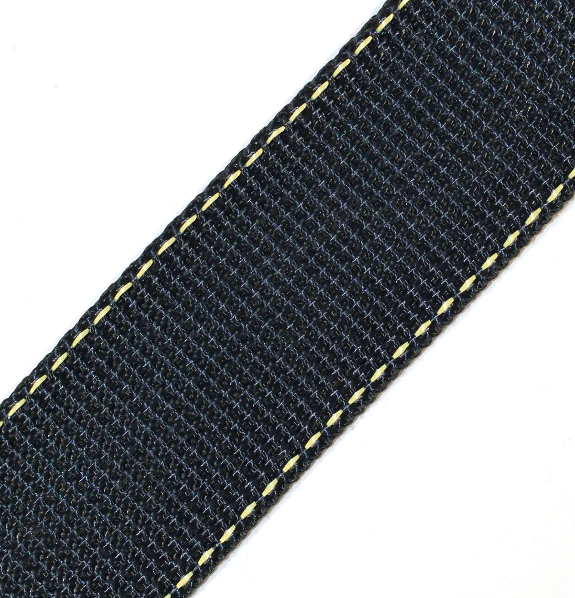 1-3/4″ Black Kevlar® Webbing with Natural Stripes