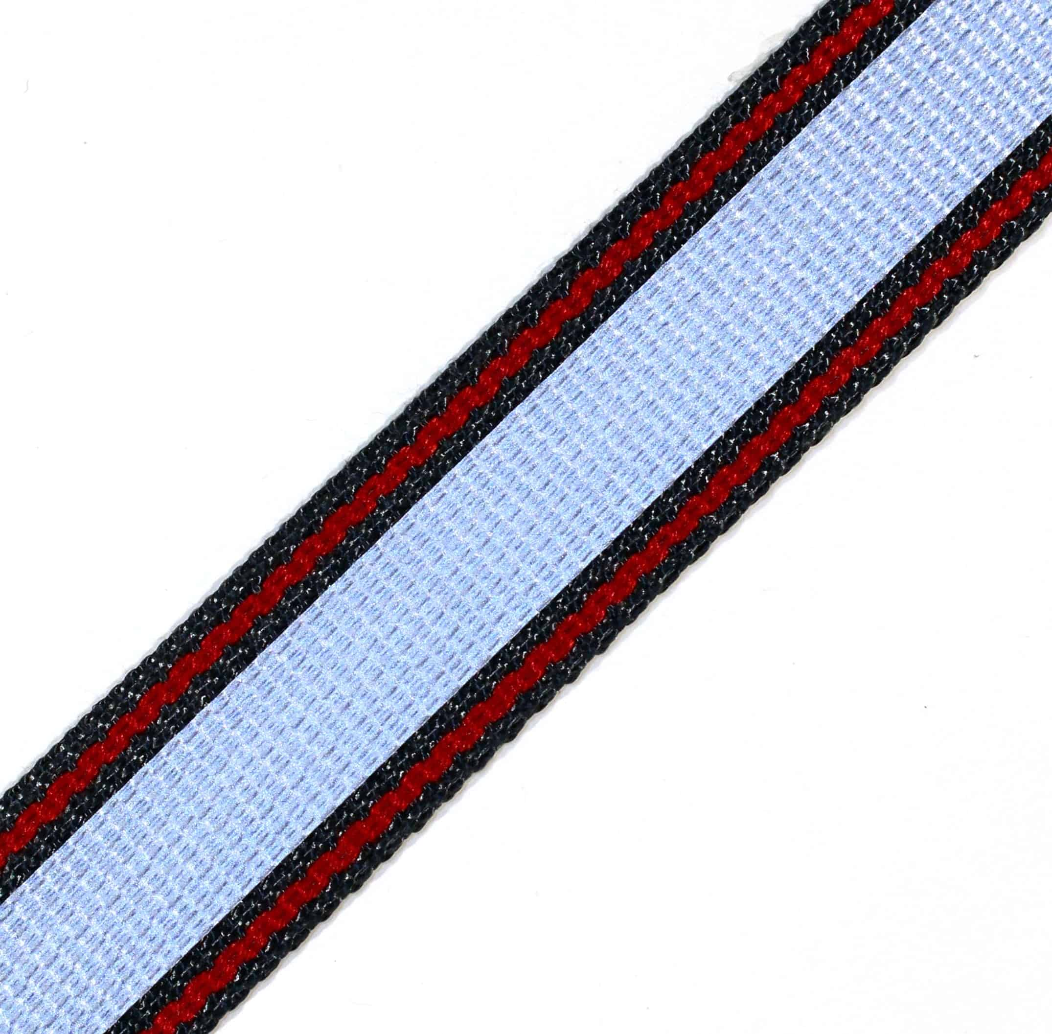 "1.47"" Black Kevlar® Webbing with Red Nomex® Stripe and reflective"