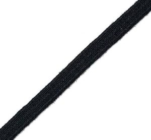 "Sturges Part No. 31511 - 1/4"" Black Nomex® Elastic Webbing, Berry Amendment Compliant"