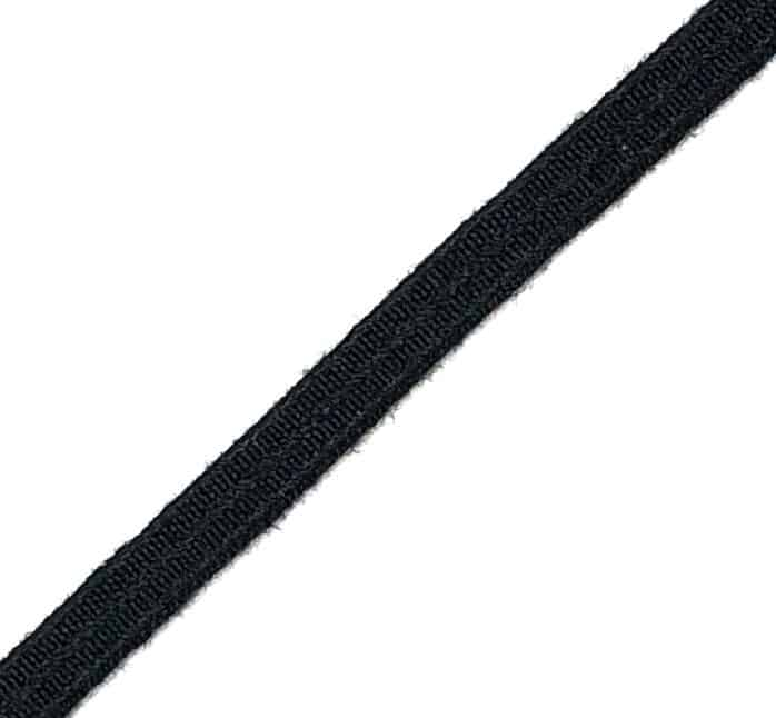 1/4″ Black Nomex® Elastic Webbing
